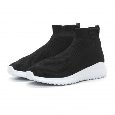Мъжки черни кецове чорап с грайфер it150319-8 3
