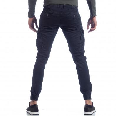 Син карго панталон с ципове на крачолите it040219-126 3