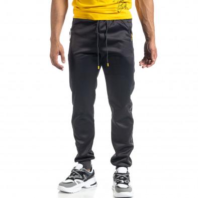 Сив мъжки джогър с принт кант Black Sport it041019-2 3
