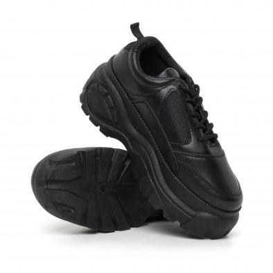 Дамски черни маратонки на платформа it130819-70 4
