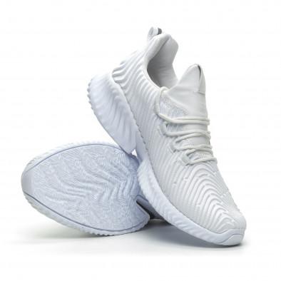 Бели мъжки ултралеки маратонки Wave дизайн  it100519-3 4