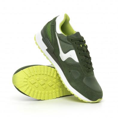 Комбинирани мъжки маратонки в зелени нюанси it130819-9 4