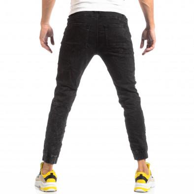 Мъжки дънков Jogger в черно it261018-12 4