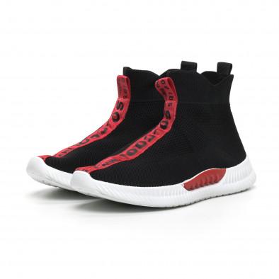 Мъжки маратонки чорап с червени надписи it260919-3 4