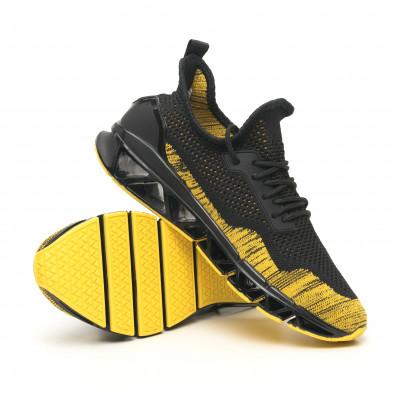 Мъжки маратонки Knife в черно и жълто it251019-23 5