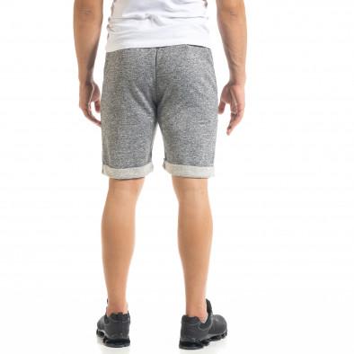 Мъжки трикотажни шорти сив меланж it050620-18 3