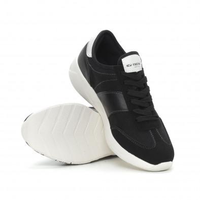 Комбинирани мъжки маратонки в черно it150319-29 4