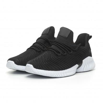 Черни мъжки ултралеки маратонки Wave дизайн  it100519-4 3