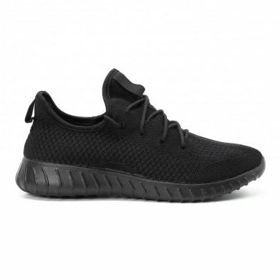 Леки мъжки маратонки от текстил All black it140918-10 2