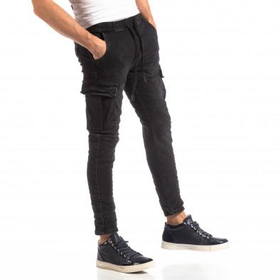 Мъжки Cargo Jeans в черно it261018-17 2