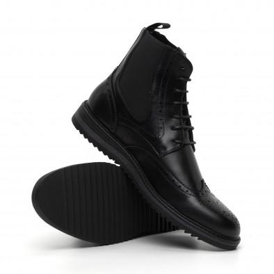 Спортно-елегантни черни мъжки боти Brogue it260919-46 4