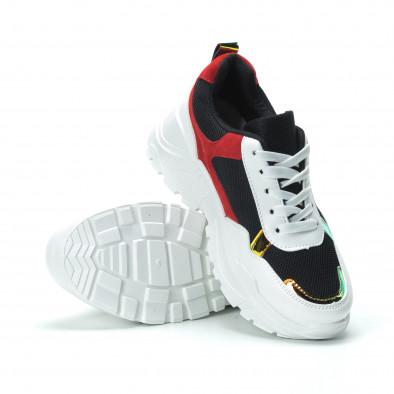 Червено-черни дамски маратонки с обемна подметка it250119-39 4