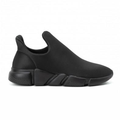 Мъжки slip-on маратонки от неопрен All black it140918-15 2