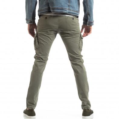 Мъжки панталон тип карго в сиво-бежово it210319-22 4