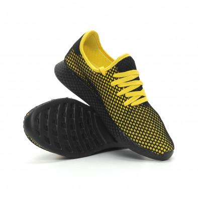 Ултралеки мъжки маратонки Mesh в черно и жълто it150319-23 5