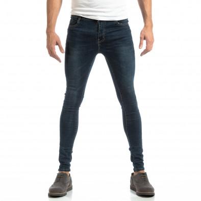 Еластични мъжки дънки в синьо it261018-14 3