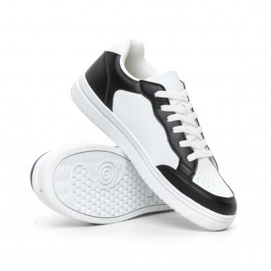 Мъжки скейтърски кецове в бяло и черно it130819-7 4