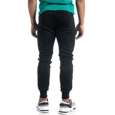 Мъжко черно долнище с апликирани джобове it041019-12 3
