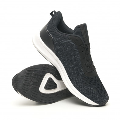 Мъжки олекотени маратонки черен меланж it251019-7 4