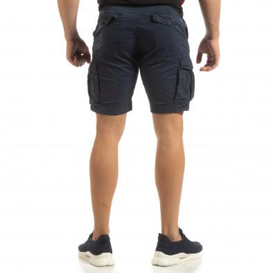 Къси карго панталони в синьо с детайл it090519-29 4