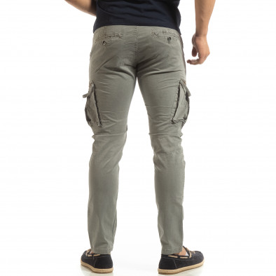 Сив мъжки карго панталон с прави крачоли it090519-14 4