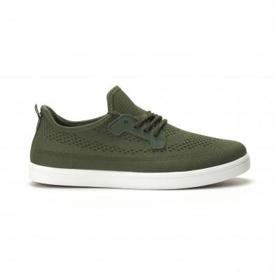 Мъжки леки спортни обувки в милитъри зелено it250119-15 2