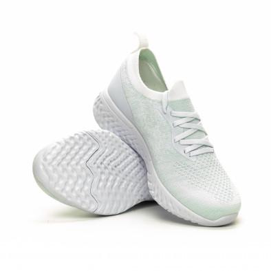 Ултралеки дамски бели маратонки тип чорап it240419-53 4