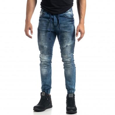 Мъжки сини рокерски дънки Jogger it041019-21 4