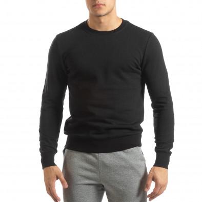 Basic мъжка памучна блуза в черно it150419-48 2