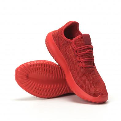 Мъжки олекотени червени маратонки All Red it250119-20 4