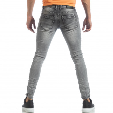 Мъжки Washed Slim Jeans в сиво it040219-14 3