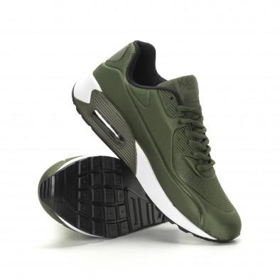 Сатенирани маратонки с въздушна камера в милитъри зелено it190219-8 4