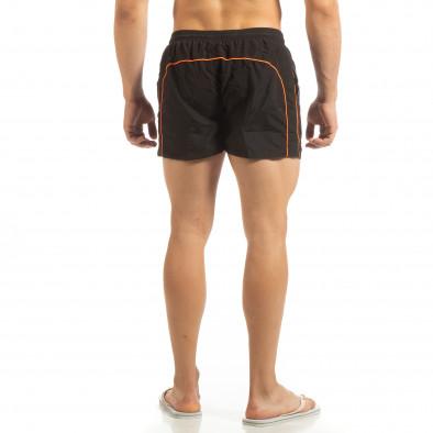 Мъжки черен бански оранжев кант it090519-85 3