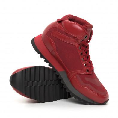 Мъжки високи спортни обувки в червено it130819-25 4