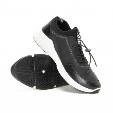 Комбинирани черни мъжки маратонки it221018-34 4