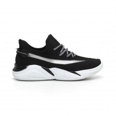 Плетени мъжки черни маратонки с мрежа it260919-4 3