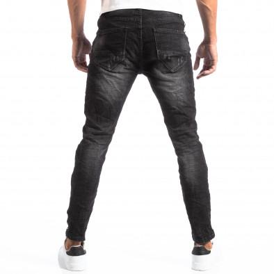 Черни мъжки дънки със състарен ефект it260918-3 4