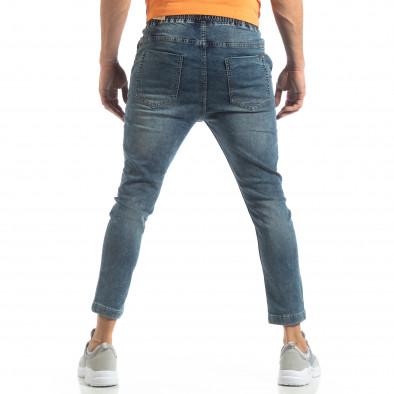 Мъжки сини дънки с ластик на кръста it210319-1 4