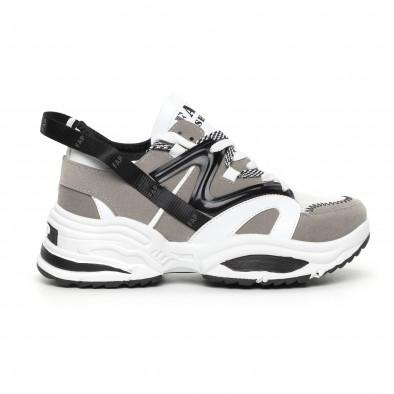 Мъжки сиви маратонки Chunky дизайн it130819-30 2