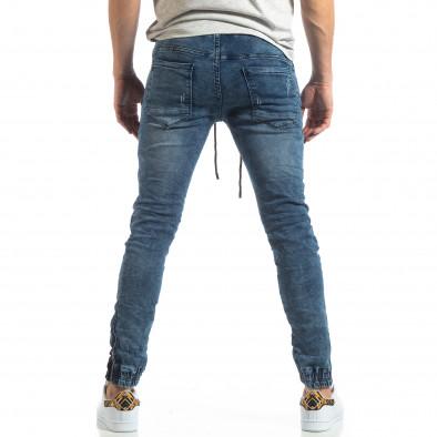 Мъжки син Jogger Jeans в рокерски стил it210319-10 4