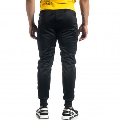 Мъжки черен Jogger жълти акценти it041019-7 3