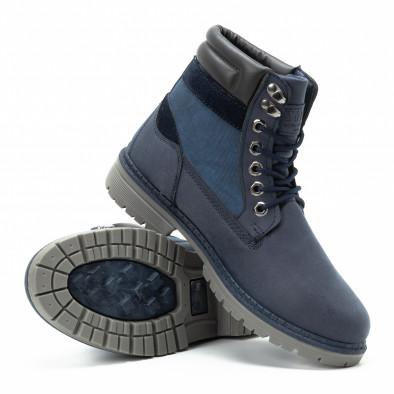 Мъжки сини боти с релефно лого it140918-26 4