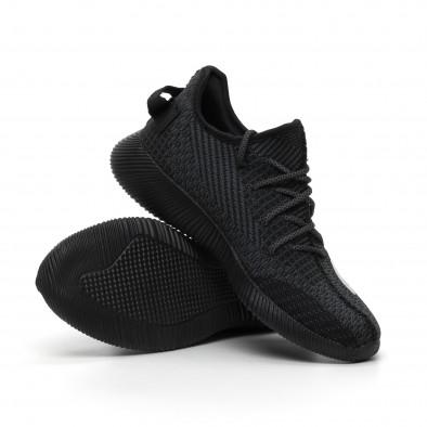 Леки мъжки сиво-черни маратонки с мрежа it260919-22 4