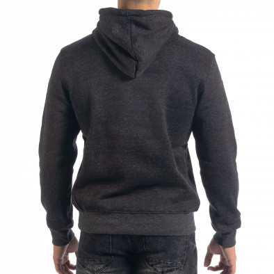 Суичър тип анорак New York черен меланж it071119-55 3