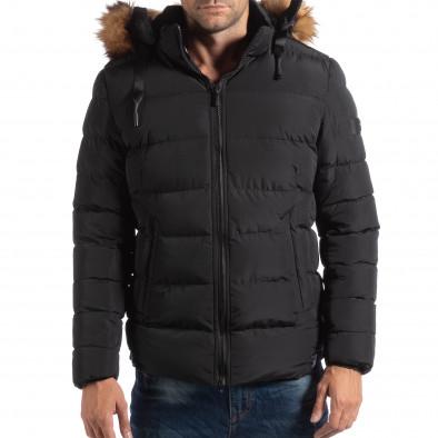 Мъжко яке в черно с пухкава подплата it250918-76 3