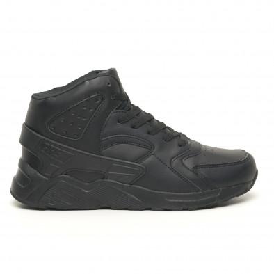 Леки високи мъжки маратонки All black it251019-4 2