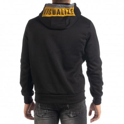 Мъжки суичър hoodie с жълт акцент it041019-50 4