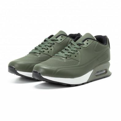 Зелени мъжки маратонки с въздушна камера и перфорации it140918-3 3
