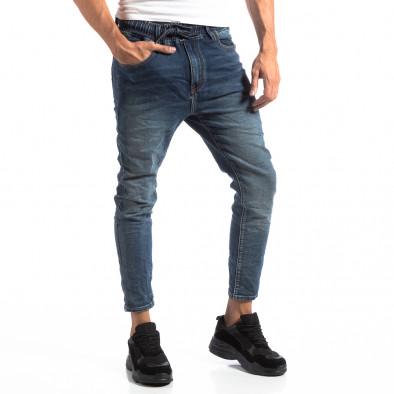 Мъжки сини дънки с ластик на кръста it250918-12 3