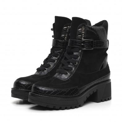 Дамски черни боти Snake в черно it260919-83 3